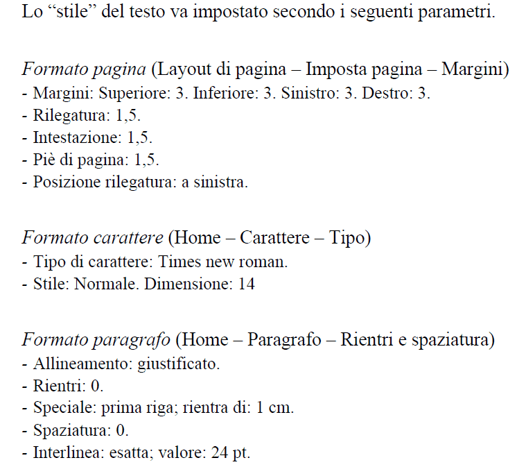 Formattazione tesi esempio - Tesi autore