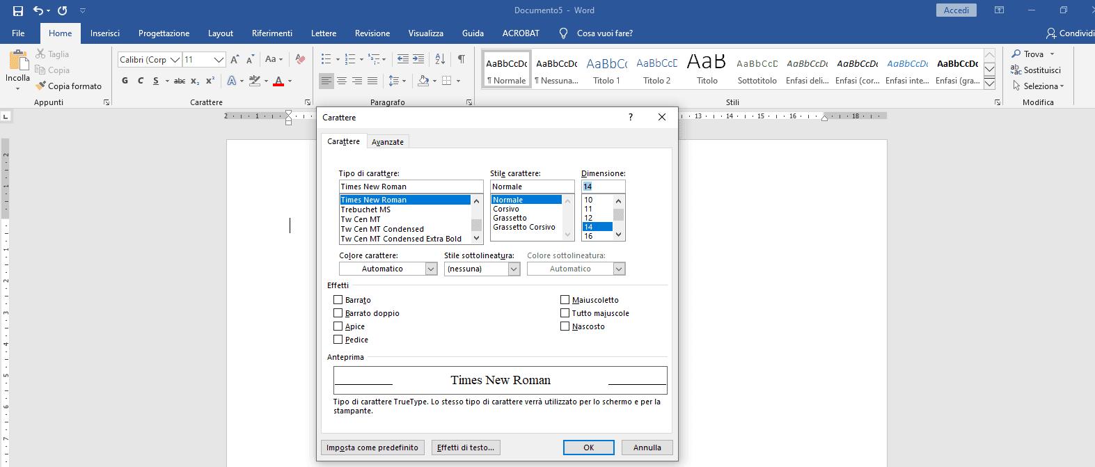 Formattazione tesi formato carattere - Tesi autore