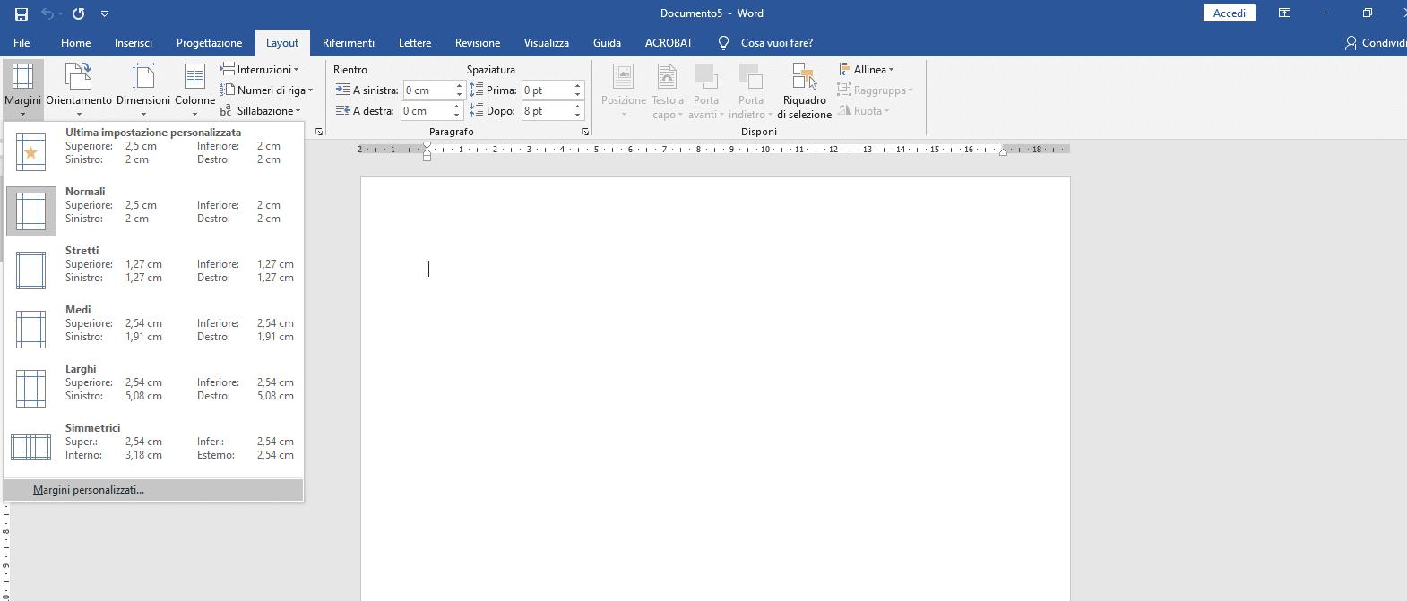 Formattazione tesi formato layout di pagina - Tesi autore