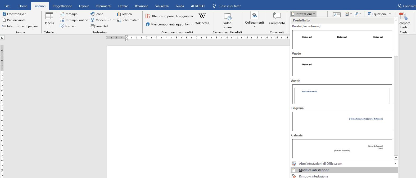 Formattazione tesi formato layout di pagina intestazione - Tesi autore