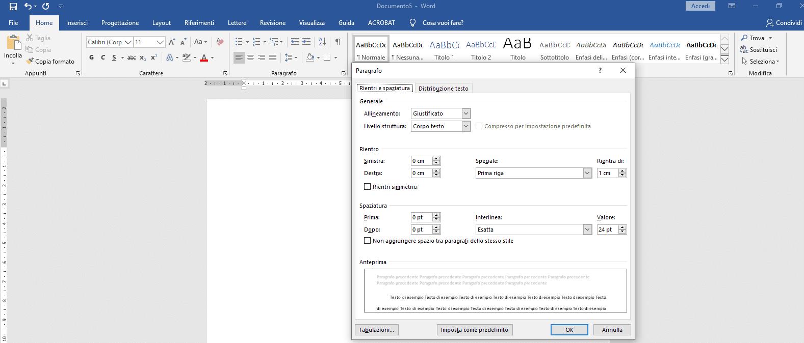 Formattazione tesi formato paragrafo